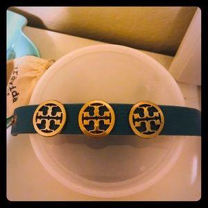 Tory Burch Blue Leather Bracelet
